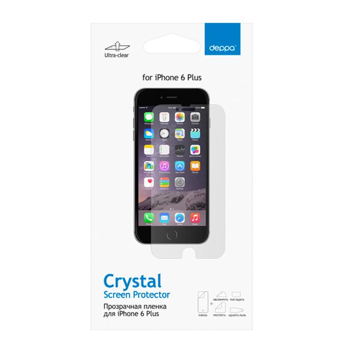 Deppa защитная пленка для Apple iPhone 6 Plus, прозрачная61357Прозрачная пленка Deppa защитит устройство от царапин. Пленка изготовлена из трехслойного японского материала PET.