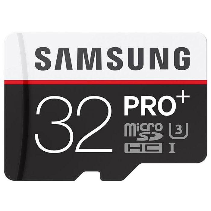 Samsung microSDHC Pro Plus 32GB + адаптерMB-MD32DA/RUSamsung microSDHC Pro Plus - карта памяти с высокой скоростью передачи и чтения данных. Стандарт UHS-I позволяет использовать такой носитель для записи фото- и видеофайлов с камеры с высоким разрешением и воспроизводить их без задержек. В комплекте поставляется переходник на SD, что позволяет использовать одни носитель с разными типами устройств.