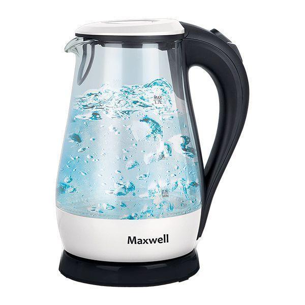 Maxwell MW-1070(W) электрочайникMW-1070(W)Электрический чайник Maxwell MW-1070(W) поможет вам быстро и качественно вскипятить питьевую воду. Он примечателен своим дизайном, поэтому прекрасно дополнит вашу кухню. Прибор придется по нраву самым взыскательным пользователям. Корпус из прочного стекла обеспечит вам надежность и долговечность в использовании. Электрические чайники торговой марки Maxwell – это большой ассортимент моделей. Среди них вы сможете выбрать вариант, который гармонично будет смотреться на кухне, по объему резервуара соответствовать количеству членов вашей семьи и полностью устраивать вас по функциональности. Среди изобилия моделей предлагаются как самые простые чайники, так и усовершенствованные приборы с наличием дополнительных опций. Среди некоторых особенностей функциональных чайников можно выделить возможность регулировки температуры нагрева воды и заваривания чая непосредственно в чайнике. Каждый чайник Maxwell уникален. Разный дизайн, форма, мощность и объем дают возможность выбора,...