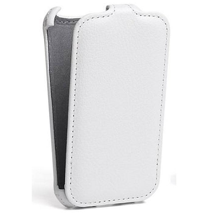 Ecostyle Shell чехол для Lenovo A516, WhiteESH-F-LA516-WHЧехол-флип Ecostyle Shell для Lenovo A516 надежно защитит ваш телефон от механических повреждений, грязи и пыли. Конструкция чехла обеспечивает свободный доступ к разъемам, камере и основным функциям смартфона. Мягкая внутренняя поверхность защищает экран устройства от царапин.