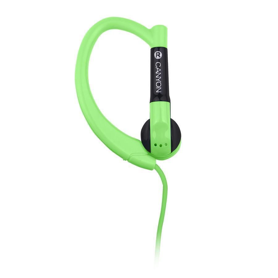 Canyon CNS-SEP1 Sport, Green наушникиCNS-SEP1GГарнитура Canyon CNS-SEP1 обеспечивает максимум свободы во время занятий спортом или активного отдыха. Ее округлые заушины надежно фиксируют динамики в ухе, удерживая гаджет даже при резких движениях головой. Компактный пульт управления, совмещенный с микрофоном, обеспечивает максимальное удобство для управления звонками и воспроизведением музыки с мобильного устройства.