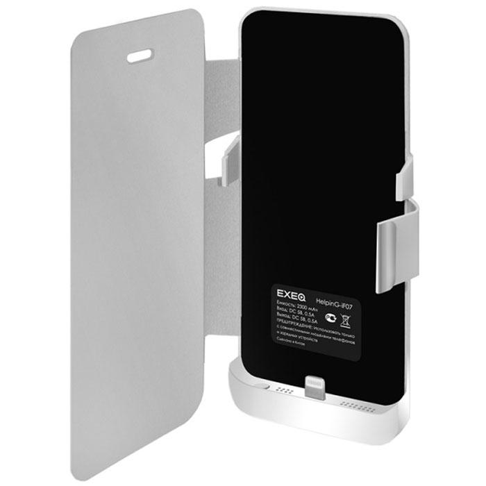 EXEQ HelpinG-iF07 чехол-аккумулятор для iPhone 5/5s, White (2300 мАч, флип-кейс) ( HelpinG-iF07 WH )