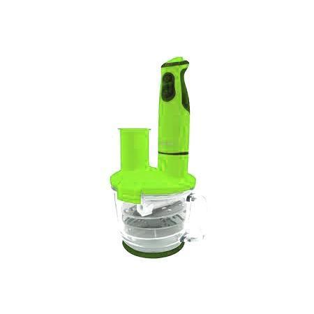 Oursson HB4040, Green Apple погружной блендерHB4040/GAПогружной блендер с многофункциональной стеклянной чашей HB4040 максимально оснащенный различными ножами, терками, дисками-шинковками, сэкономит драгоценное время на приготовление пищи. С помощью насадки для пюрирования легко приготовить пюре или паштет, венчиком взбить белки, крем, тесто для блинов или молочный коктейль, с помощью диска-шинковки нарезать ломтиками сыр, колбасу или овощи. Диски-терки приготовят салат или потрут овощи для супа, а нож-измельчитель превратит мясо или рыбу в фарш, измельчит лук и чеснок, орехи, крупы, кофе, специи, и даже приготовит сахарную пудру. Чаша, идущая в комплекте, выполнена из высококачественного стекла, которое не поцарапается твердыми продуктами или кусочками льда. Ее можно наполнять горячими ингредиентами и жидкостью