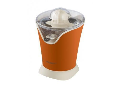 Oursson JM1001, Orange соковыжималкаJM1001/ORЯркая современная соковыжималка для цитрусовых JM1001, благодаря высокой мощности, легко приготовит сок, как из небольших лаймов и лимонов, так и из грейпфрутов и апельсинов. Соковыжималка проста в уходе, легко разбирается и моется. Устройство имеет надежную и долговечную сетку-фильтр из нержавеющей стали. Два вида конусов в комплекте предназначены для различных видов цитрусовых фруктов. Для приготовления сока достаточно разрезать необходимый фрукт пополам и слегка надавить одной половинкой на конус соковыжималки. Сок автоматически польется прямо в стакан. Благодаря удобному носику с системой «Капля-стоп» сок не прольется на стол. Уменьшите давление на конус и соковыжималка автоматически выключится.