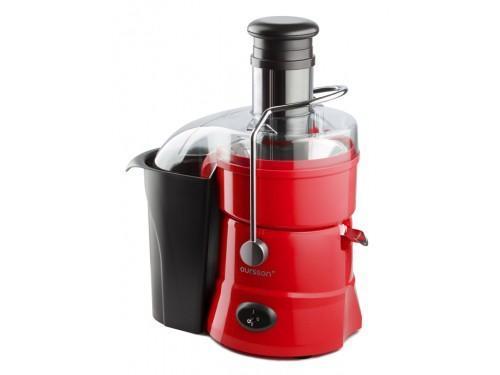 Oursson JM3008, Red соковыжималкаJM3008/RDУниверсальная центробежная соковыжималка JM3008 экономит время и позволяет быстро получить много свежего сока почти из любых фруктов, овощей. Благодаря широкому загрузочному отверстию диаметром 75мм можно не разрезать предварительно яблоки, груши и прочие продукты на части, а класть их целиком в соковыжималку. Мощность устройства 800 Вт., две скорости работы – для получения сока из твердых и мягких плодов. Жмых автоматически поступает в специальный контейнер для мякоти объемом 2 л, которым оснащена соковыжималка. Кроме того, она имеет прочную мелкоячеистую сетку-фильтр из нержавеющей стали. Съемные детали можно мыть в посудомоечной машине
