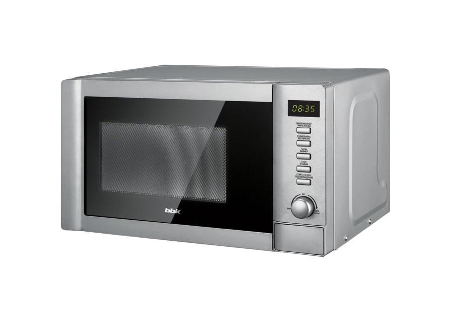 BBK 20MWG-730T/BX микроволновая печь20MWG-730T/BXОсвойте всю кулинарную книгу вместе с микроволновой печью 20MWG-730T/BX. Благодаря встроенному грилю печь может работать в 3 режимах: микроволны, гриль и комби. В режиме микроволны можно подогревать, готовить или размораживать блюда. Для разморозки имеются 2 программируемых режима – по весу и по времени. Режим гриль предназначен для запекания мяса или рыбы до аппетитной хрустящей корочки. Также печь снабжена функцией Автоменю – набор предустановленных программ для приготовления определенных блюд. Чтобы камера печи дольше оставалась чистой, при приготовлении накрывайте блюда специальной крышкой, входящей в комплект.