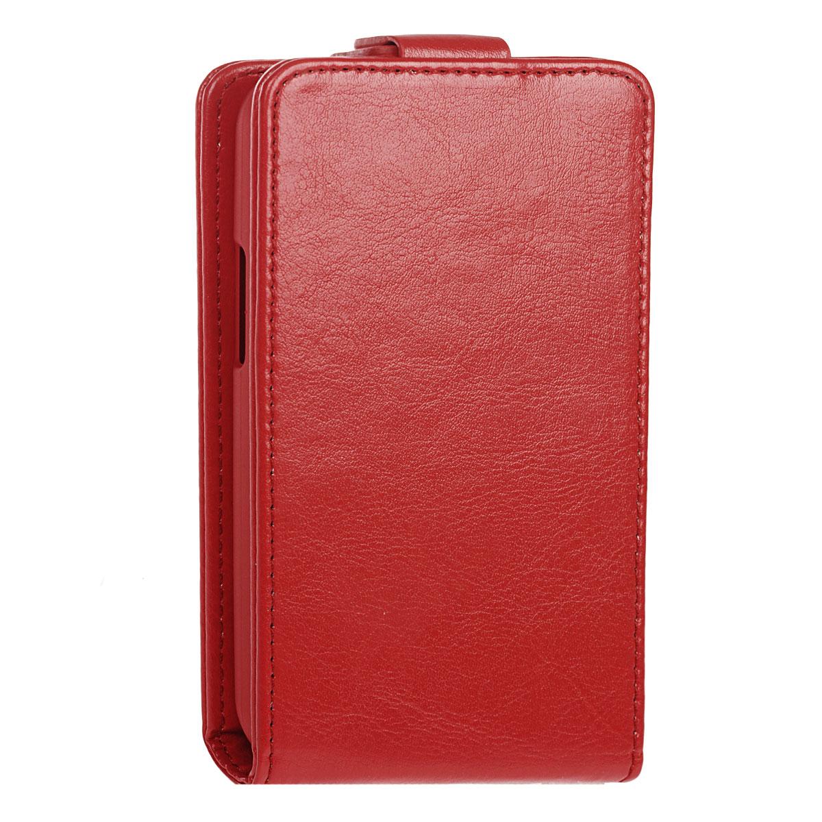 Skinbox Flip Case чехол для LG L90 Dual, RedT-F-LGL90Чехол Skinbox Flip Case для LG L90 Dual выполнен из высококачественного поликарбоната и экокожи. Он обеспечивает надежную защиту корпуса и экрана смартфона и надолго сохраняет его привлекательный внешний вид. Чехол также обеспечивает свободный доступ ко всем разъемам и клавишам устройства.