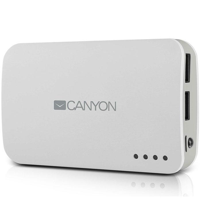 Canyon CNE-CPB78, White внешний аккумуляторCNE-CPB78WВнешний аккумулятор Canyon CNE – это замечательный выбор для подзарядки мобильных устройств и гаджетов при отсутствии доступа к стационарной электросети. Устройство иммет большую емкость, что позволяет брать этот аксессуар в длительные путешествия, а два USB-разъема с разной силой выходного тока служат для удобной подзарядки разных моделей электроники. Аккумулятор Canyon дополнен светодиодной индикацией, оповещающей владельца об уровне заряда.