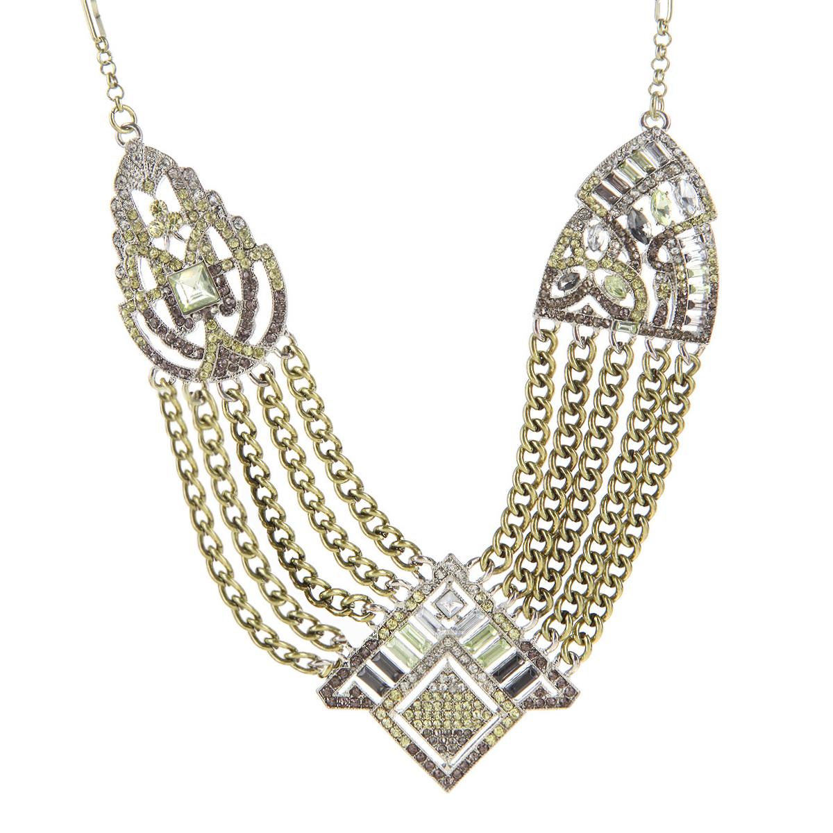 Колье Milana Style, цвет: бронза. 00873xl