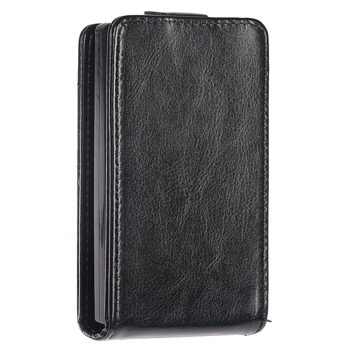 Skinbox Flip Case чехол для Nokia X2, BlackT-F-NX2Чехол-накладка Skinbox 4People для Nokia X2 бережно и надежно защитит ваш смартфон от пыли, грязи, царапин и других повреждений. Выполнен из высококачественного поликарбоната, плотно прилегает и не скользит в руках. Чехол-накладка оставляет свободным доступ ко всем разъемам и кнопкам устройства.