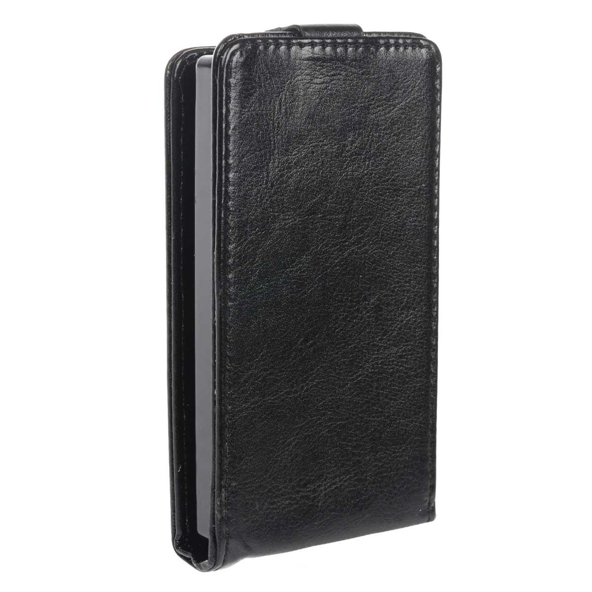 Skinbox Flip Case чехол для Microsoft Lumia 435, BlackT-F-ML435Чехол Skinbox Flip Case выполнен из высококачественного поликарбоната и экокожи. Он надежно защитит ваше устройство от пыли, влаги и механических повреждений. Обеспечивает свободный доступ ко всем разъемам и клавишам смартфона.