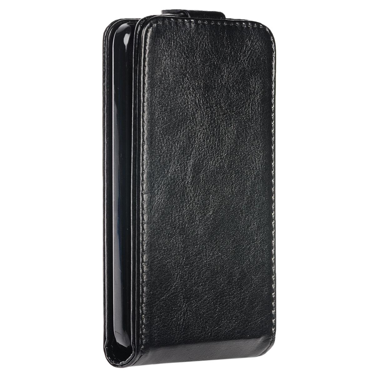Skinbox Flip Case чехол для Alcatel Idol 2, BlackT-F-AI2Чехол Skinbox Flip Case выполнен из высококачественного поликарбоната и экокожи. Он надежно защитит ваше устройство от пыли, влаги и механических повреждений. Обеспечивает свободный доступ ко всем разъемам и клавишам смартфона.