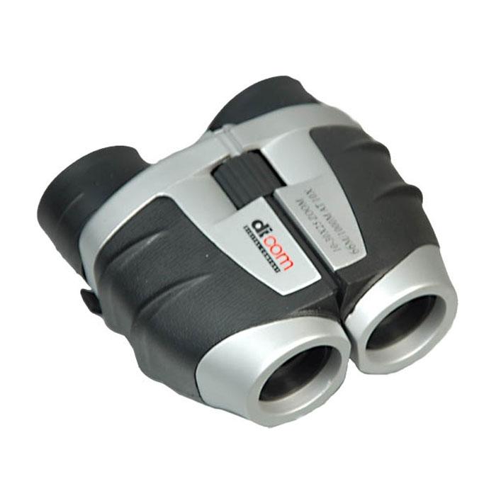 Dicom GZ103025 10-30x25 бинокльGZ103025Dicom B840 Bear 8x40 - недорогой и удобный бинокль, который станет верным спутником для любителей пеших прогулок и наблюдений за животными. Диаметр объектива в этом бинокле составляет 25 мм. Это делает прибор наиболее компактным и легким. Центральная фокусировка, которая присутствует в представленной модели бинокля, является максимально удобной для пользователя, за счет одновременной фокусировки сразу обеих труб бинокля. Крепление на штативе даст возможность использовать Dicom GZ103025 10-30x25 как постоянный источник наблюдения и даст максимальное удобство наблюдателю. Угловое поле зрения: 3,8° Материал корпуса: пластик