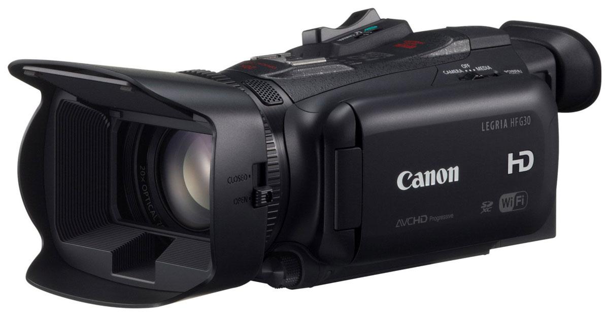 Canon LEGRIA HF G30 цифровая видеокамера8454B002С видеокамерой Canon LEGRIA HF G30 у вас получится запечатлеть живые сцены не хуже, чем у профессионалов. Она идеально подойдет для любителей с серьезными намерениями, которые хотят достичь творческих высот и высокого качества видео. Качественно новая широкоугольная оптика 26,8 мм позволяет достичь такого качества изображения, которое до этого было невозможно получить при использовании компактной видеокамеры, а 20-кратный оптический зум позволяет приблизить объект и ощутить себя в центре событий. Новая, круглая 8-лепестковая диафрагма позволяет достичь приятного эффекта боке. Данная модель поддерживает одновременную запись в разных форматах (AVCHD и MP4) или в разном битрейте на карты памяти, размещенные в двойном разъеме для карт памяти SDXC. Имеется возможность замедленной и ускоренной съемки при записи в формате MP4. Новый датчик HD CMOS PRO с эффективным количеством пикселей, 2,91 Мп, разработанная Canon для профессиональных...