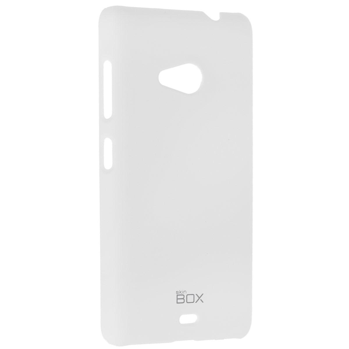 Skinbox Shield 4People чехол для Microsoft Lumia 535, WhiteT-S-ML535-002Чехол Skinbox Shield 4People для Microsoft Lumia 535 предназначен для защиты корпуса смартфона от механических повреждений и царапин в процессе эксплуатации. Имеется свободный доступ ко всем разъемам и кнопкам устройства. В комплект также входит защитная пленка на экран телефона.