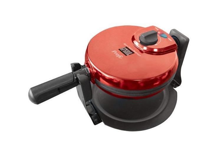 GFgril GF-020 Waffle Pro вафельницаGF-020 WAFFLE PROЭлектровафельница Используя электровафельницу GF-020 Waffle Pro, можно легко и быстро приготовить какую-нибудь «вкусняшку» на завтрак или просто в нужный момент. Рабочая температура вафельницы настраивается вручную, с помощью специальной ручки на верхней крышке. Вам больше нравятся коричневые хрустящие корочки? А может быть светло-золотистые? Вафельница позволит реализовать любое ваше пожелание по части вафель в самый короткий срок. Оборудование оснащено встроенным таймером, благодаря чему вам не нужно неотрывно стоять над каждой порцией, а контрольная лампа просигнализирует, когда вафля будет готова. Особенности конструкции вафельницы GF-020 Waffle Pro работает с высоким уровнем мощности, из-за чего вафли пекутся практически мгновенно. Дополнительное удобство состоит также в том, что производителем предусмотрено по умолчанию разрезание готовой вафли на четыре равные части. Формы для выпечки, а также крышка оборудования изготовлены из...