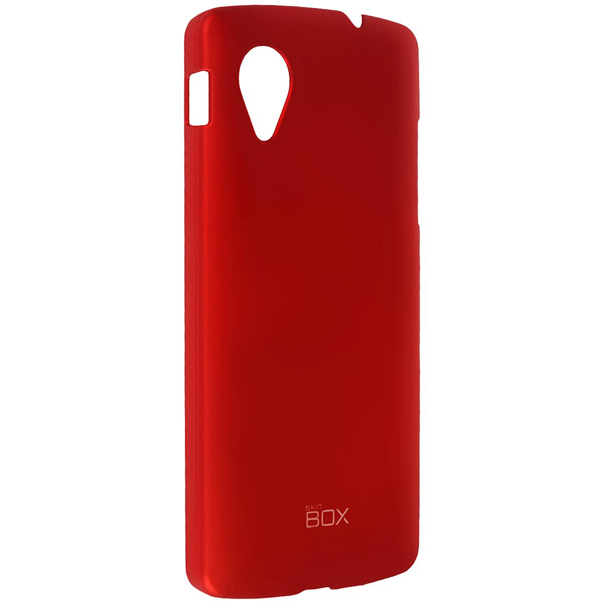 Skinbox Shield 4People чехол для LG Nexus 5, RedT-S-LN5-002Чехол Skinbox Shield 4People для LG Nexus 5 предназначен для защиты корпуса смартфона от механических повреждений и царапин в процессе эксплуатации. Имеется свободный доступ ко всем разъемам и кнопкам устройства. В комплект также входит защитная пленка на экран телефона.