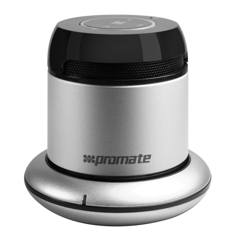 Promate bluRock2, Silver Bluetooth-динамик00007342bluRock2 представляет собой портативный Bluetooth® динамик для всех мобильных и планшетных устройств, мобильная гарнитура для ответа на звонки, а также беспроводную зарядку для Вашего мобильного телефона. Все это умещается в маленьком, стильном корпусе. Отличительной особенностью данного гаджета также является дополнительный аудио вход. Идеально подходит для использования с планшетами, смартфонами и прочими аудио аксессуарами. Легкий и портативный - этот мини-динамик способен порадовать ценителей удивительным по качеству звуком. Улучшенный встроенный усилитель и настроенный вакуумный бас. Использует порт Micro USB для подзарядки.