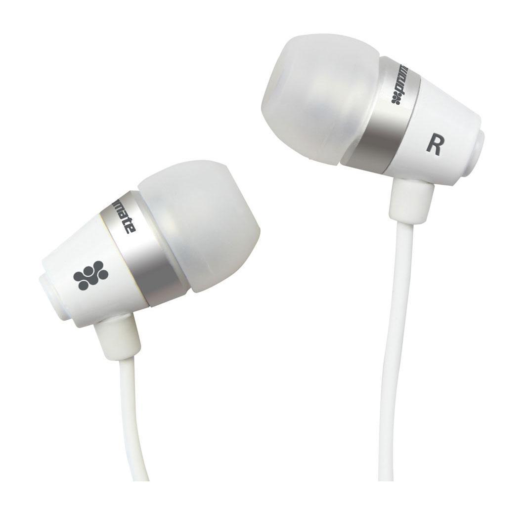 Promate earMate.uni2, White наушники00007771Вставные наушники Promate earMate-uni2 имеют широкий частотный диапазон, повышенную четкость звучания, а также обладают шумоизоляцией высокой точности. При необходимости данная модель может выполнять функцию стереогарнитуры. Наушники совместимы с планшетами, смартфонами, различными аудиоустройствами и портативными девайсами - MP3/MP4 плеерами, CD плеерами - с помощью аудиоразъема 3,5 мм.
