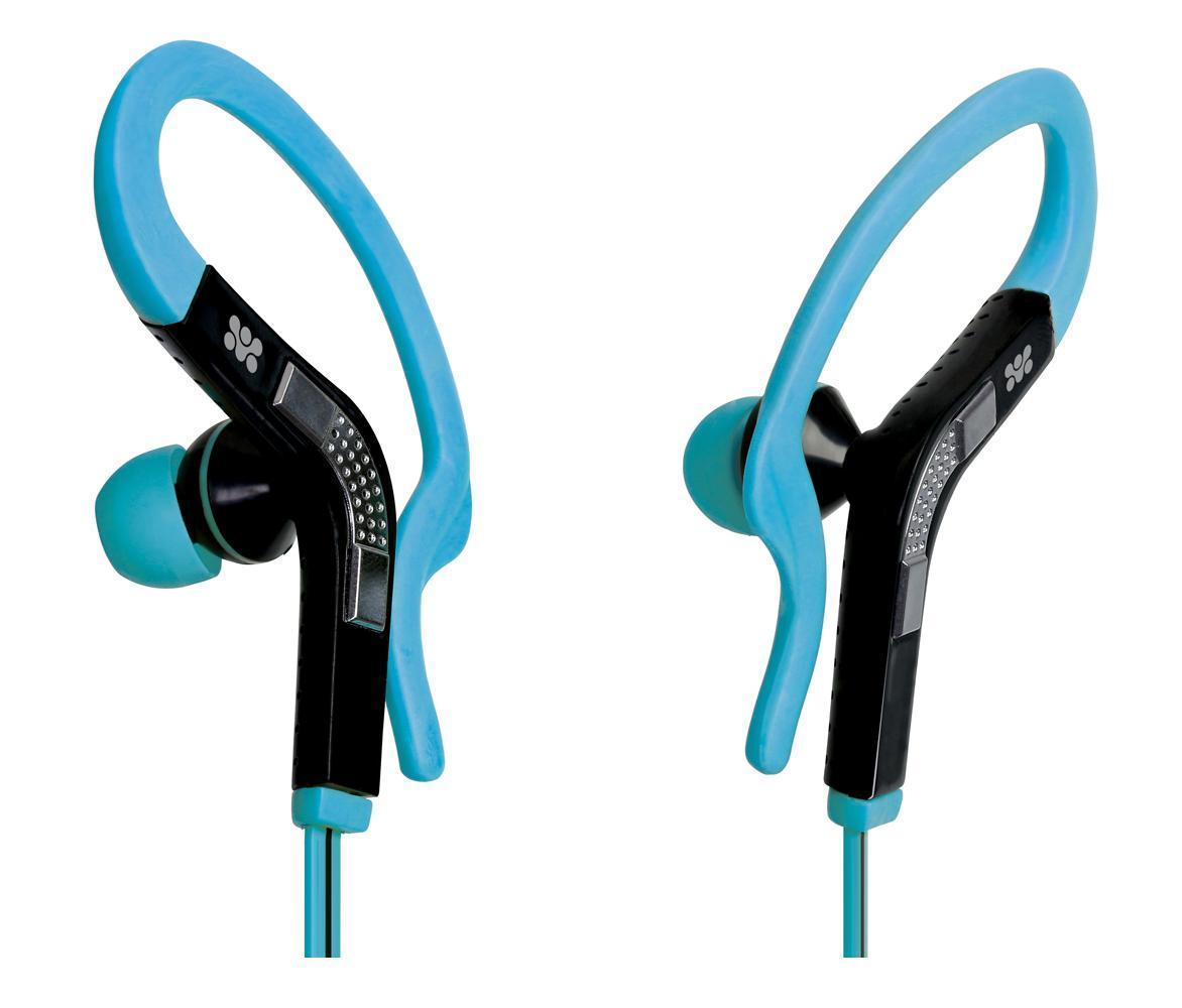 Promate Snazzy, Blue наушники00007433Восхитительный функциональный дизайн, не позволяющий гарнитуре упасть даже при очень интенсивных спортивных нагрузках, вкупе с качественным звуком - интересное решение для людей, ведущих активный образ жизни. Может быть использован как гарнитура к телефону, так как оснащен встроенным микрофоном и универсальной кнопкой управления вызовами.