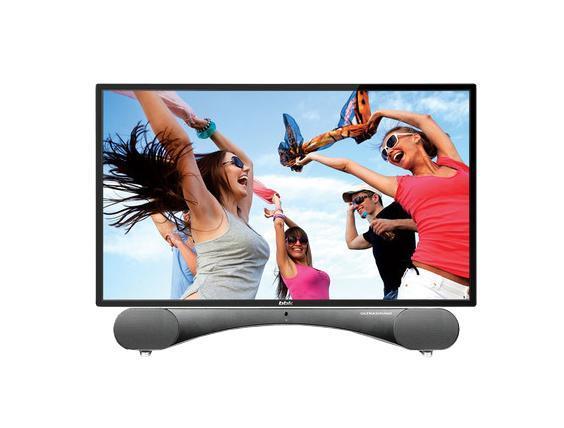 BBK 24LEM-5002/FT2C, Black телевизор24LEM-5002/FT2CОтличительной особенностью телевизоров BBK серии ULTRASOUND является эксклюзивная подставка, представляющая собой стильную звуковую панель и превращающая телевизор в настоящий домашний центр развлечений. Благодаря использованию высококачественных динамиков и программных решений Sonic Boom удалось добиться уникального мощного и вместе с тем естественного звучания. Для приема сигнала высокой четкости телевизоры серии обладают HDMI-интерфейсами, собственное высокое разрешение матрицы 1920х1080 обеспечивает реалистичную картинку. Встроенные тюнеры DVB-T/T2 и DVB-C уверенно и стабильно принимают аналоговые и цифровые каналы. Доступен режим монитора персонального компьютера. Встроенный мультиформатный медиаплеер и USB2.0-порт служат для воспроизведения HD-видео, аудиофайлов и фотографий. Русифицированное меню не вызовет сложности в эксплуатации. Модели совместимы с кронштейном стандарта VESA.