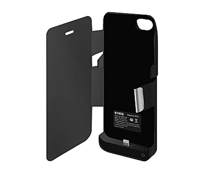 EXEQ HelpinG-iF05 чехол-аккумулятор для iPhone 5/5s/5c, Black (2300 мАч, флип-кейс)