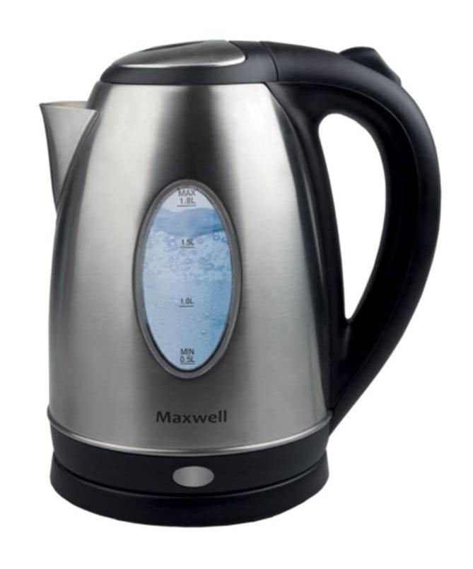 Maxwell 1073-MW(ST) электрический чайникMW-1073(ST)Безопасность, надежность, удобство и практичность – вот основные критерии, которые характерны для всех моделей чайников торговой марки Maxwell. Данная техника стала обязательным атрибутом современной кухни, позволяя быстро вскипятить воду для чашечки чая или кофе. Электрические чайники Maxwell отличаются своей эргономичностью и стильным дизайном, что позволяет их вписать в интерьер любого кухонного пространства Пользоваться электрическими чайниками Maxwell очень просто. Налив воды в емкость, вам достаточно установить чайник на специальную подставку и включить его. Спустя несколько секунд вы можете наливать чай и наслаждаться горячим напитком Все электрические чайники Maxwell – это надежная техника, отличающаяся высоким качеством комплектующих. В зависимости от модели, корпус чайника выполнен из термостойкого пластика и нержавеющей стали. Эти материалы не придают посторонних привкусов воде, а потому вы насладитесь ароматом и насыщенным вкусом чая. Скрытый...