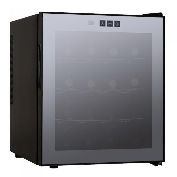 Climadiff VSV16F винный шкафVSV16FМонотемпературный винный шкаф Climadiff VSV16F на 16 бутылок может разместиться как на полу, так и на столе благодаря скромным габаритом. Использование в системе охлаждения элемента Пельтье позволяет полностью исключить вибрацию. Шкаф будет уместно выглядеть и на кухне, и в рабочем кабинете