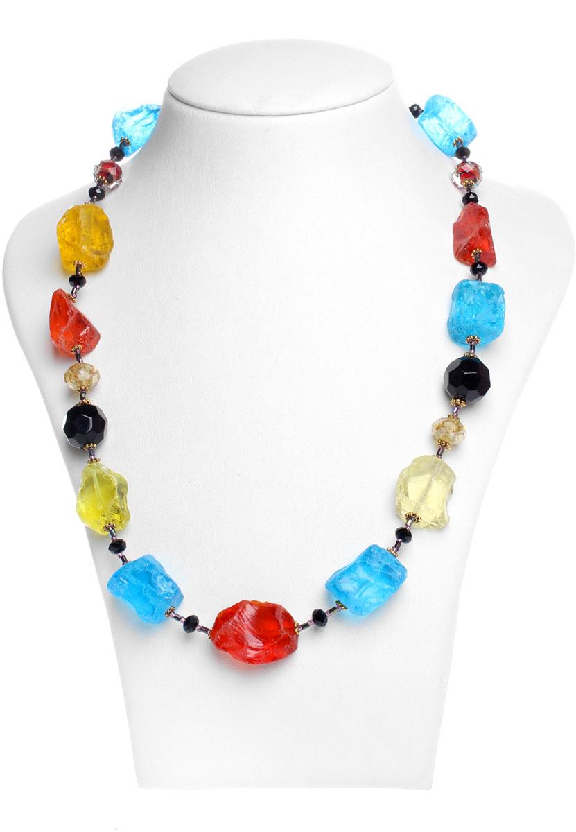 Ожерелье Migura, цвет: красный, синий, черный. KU0256
