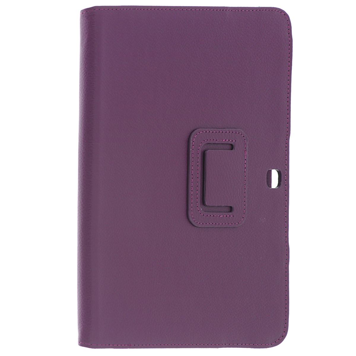 IT Baggage чехол для Samsung Galaxy Tab 4 10.1, PurpleITSSGT1042-4IT Baggage для Samsung Galaxy Tab 4 10.1 - удобный чехол для вашего планшета. Он сохранит ваш планшет от царапин, пыли и грязи. Даже при частом использовании в нём вашего планшетного компьютера, его хватит на несколько лет. Может быть использован в качестве подставки для чтения книг и просмотра фильмов.