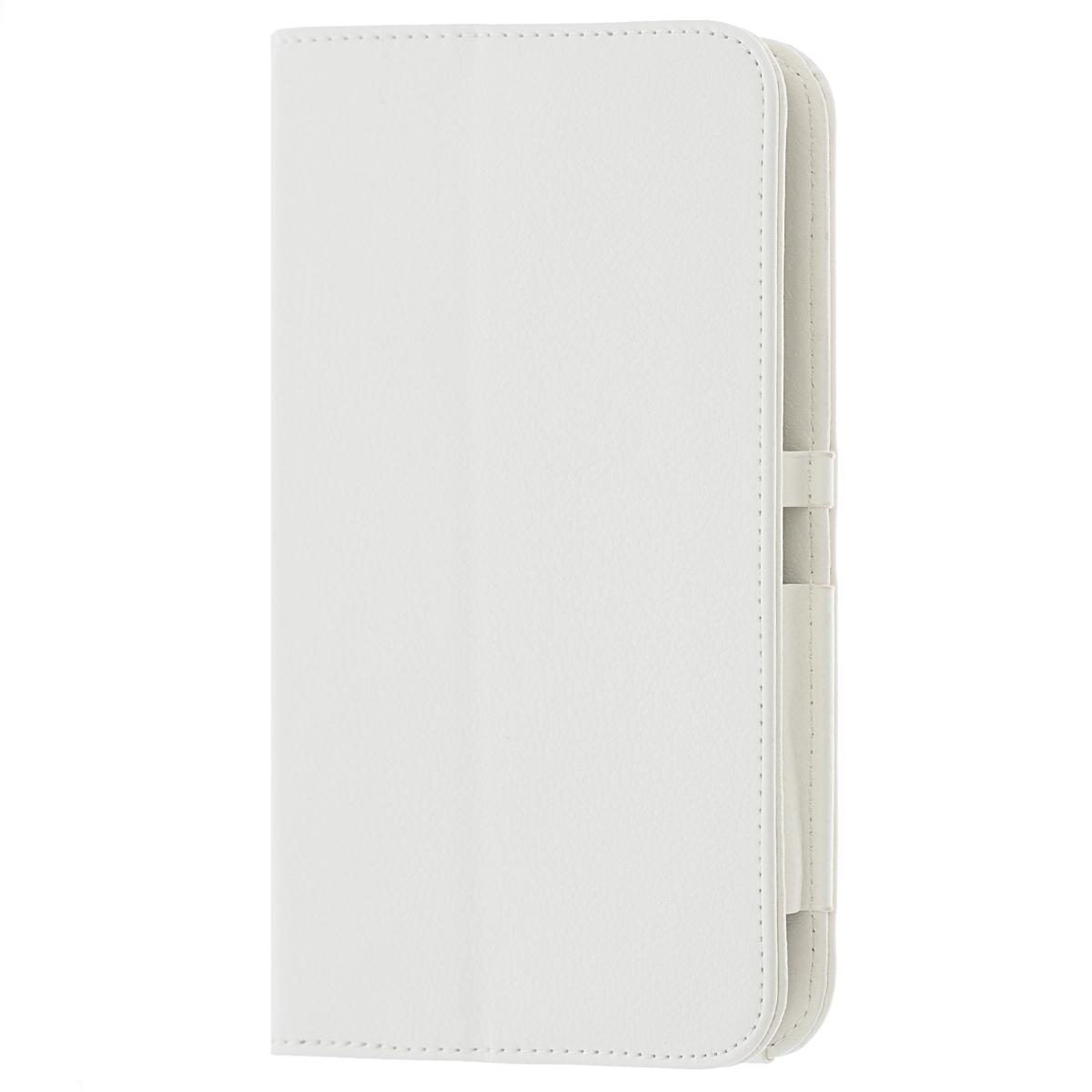 IT Baggage чехол для Samsung Galaxy Tab 4 7.0, WhiteITSSGT7402-0IT Baggage для Samsung Galaxy Tab 4 7.0 - удобный чехол для вашего планшета. Он сохранит ваш планшет от царапин, пыли и грязи. Даже при частом использовании в нём вашего планшетного компьютера, его хватит на несколько лет. Может быть использован в качестве подставки для чтения книг и просмотра фильмов.