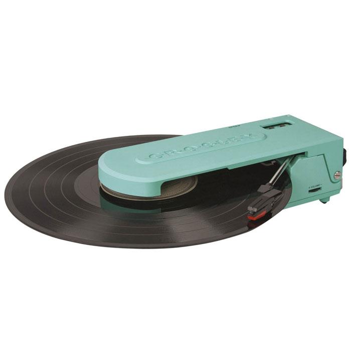 Crosley Revolution ретро-проигрыватель, Turquoise (CR6020A)
