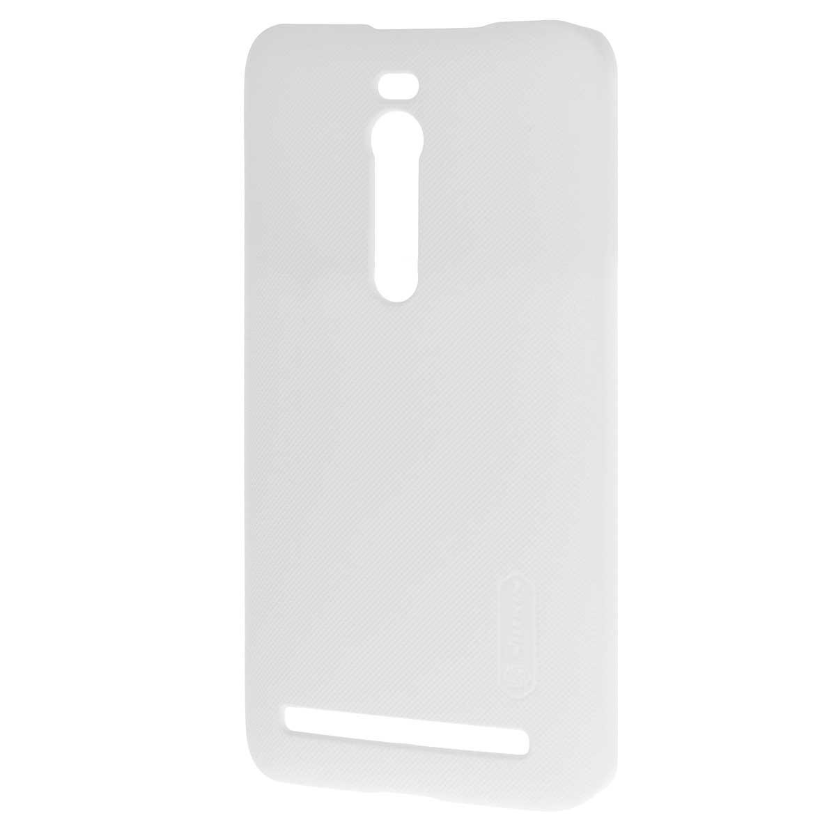 Nillkin Super Frosted Shield чехол для Asus ZenFone 2 (ZE551ML/ZE550ML), WhiteT-N-AZ2-002Накладка Nillkin Super Frosted Shield для Asus Zenfone 2 (ZE551ML/ZE550ML) устанавливается сверху на оригинальную заднюю крышку вашего телефона и защищает его от повреждений, пыли и грязи. Обеспечивает свободный доступ ко всем разъемам и клавишам устройства. В комплект входит защитная пленка.