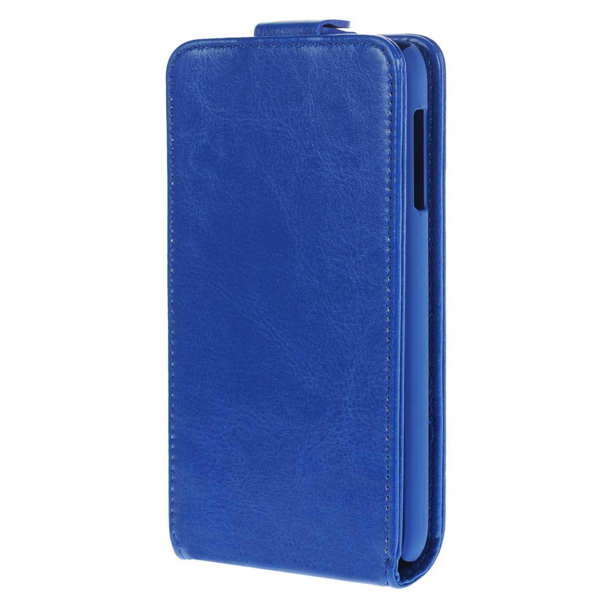 Skinbox Flip Case чехол для HTC Desire 510, BlueT-F-HD510Флип-кейс Skinbox для HTC Desire 510 не ограничивает функционал мобильного телефона. Адаптированная форма оставляет необходимые элементы устройства, такие как разъемы, камера, порт передачи данных, микрофон и динамики легко доступными. Качественная искусственная кожа, из которой изготовлен чехол, очень прочна и практична, а также идеально соответствует натуральной коже и создает приятные ощущения при касании. Смартфон фиксируется на жесткой основе из прочного пластика, которая не только защищает смартфон от ударов, но и максимально долго сохраняет свою форму. Передняя панель флип-кейса закрепляется магнитной застежкой, предотвращающей раскрытие чехла и повреждение дисплея вашего устройства.