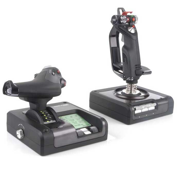 Saitek X52 Pro Flight Control System (PS34) джойстикPS34Игровая система Saitek X52 Pro Flight Control System создана для удолетворения всех потребностей виртуальных пилотов! Многофункциональный интерактивный ЖК дисплей для отображения игровой информации. В комплекте ПО для создания связей с Вашими любимыми играми. Металлические детали в конструкции обеспечивают надёжность и позволяют применить систему из двойных пружин с прогрессивной жесткостью (сопротивление усиливается по мере отклонения рукоятки от центра). Бесконтактный сенсор положения рукоятки с удвоенной чувствительностью (по сравнению с X52).
