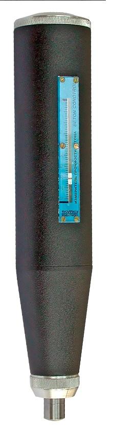 Beton CONDTROL3-10-004Склерометр Beton Condtrol предназначен для оценки прочности бетона на сжатие методом упругого отскока в бетонных и ж/б конструкциях и изделиях по ГОСТ 22690.1-77, ГОСТ 22690-88. Принцип действия прибора основан на ударе с нормированной энергией бойка о поверхность бетона и измерении высоты его отскока в условных единицах шкалы прибора, являющейся косвенной характеристикой прочности бетона на сжатие. Отличительной особенностью Beton Condtrol является наличие тарировочных таблиц на корпусе прибора, учитывающих направление удара.