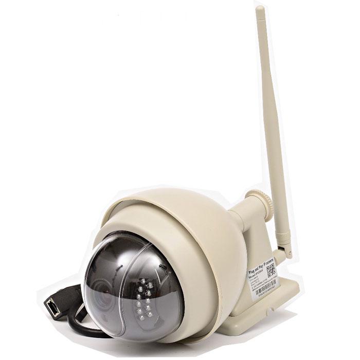 Zodiak 935 внешняя купольная IP-камераP2P IP-камера 935Zodiak 935 - удобное решение для онлайн видеонаблюдения через интернет за загородным домом, дачей или офисом. Облачный сервис обеспечивает бесплатный удаленный онлайн просмотр и доступ к архиву (SD карте) с мобильных устройств. Благодаря функции P2P камера не требует статического адреса и специальной настройки для удаленного просмотра, вам нужно лишь подключить ее к сети Интернет и установить на компьютер или мобильное устройство специальное приложение Zodiakvideo (Android, iOS). Поворотное устройство камеры позволяет вращать ее на 355 градусов по горизонтали и на 90 градусов по вертикали для улучшения обзора. Благодаря влагозащитному корпусу камера не пострадает от попадания влаги. Устройство предназначено для использования как в помещениях, так и на улице, но при температуре > -25 градусов. Оптический Zoom (3-х кратный), фокусное расстояние объектива 4-9 мм Встроенная подсветка (22 светодиода) Поворотное устройство (на 355 градусов по...