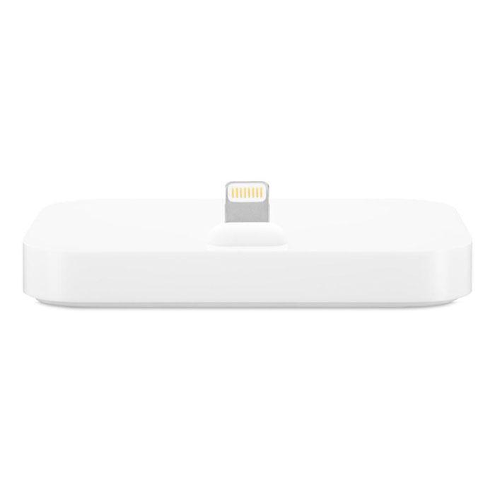 Apple iPhone Lightning Dock док-станция (MGRM2ZM/A)MGRM2ZM/AiPhone Lightning Dock позволяет заряжать и синхронизировать любой iPhone с разъёмом Lightning. Во время зарядки и синхронизации iPhone устанавливается на док-станцию вертикально, поэтому её можно расположить на любой горизонтальной поверхности. iPhone легко устанавливается на док-станцию даже в чехле от Apple. Кроме того, вы можете разблокировать iPhone и использовать Touch ID, не снимая его. Док-станция iPhone Lightning Dock оснащена аудиовыходом, к которому можно подключить активные динамики. Она также поддерживает наушники со встроенным дистанционным управлением. Кроме того, она поддерживает другие аксессуары с разъёмом Lightning, включая кабель Lightning/USB (входит в комплект поставки iPhone). Когда iPhone подключён к док-станции, вы можете даже разговаривать по громкой связи.