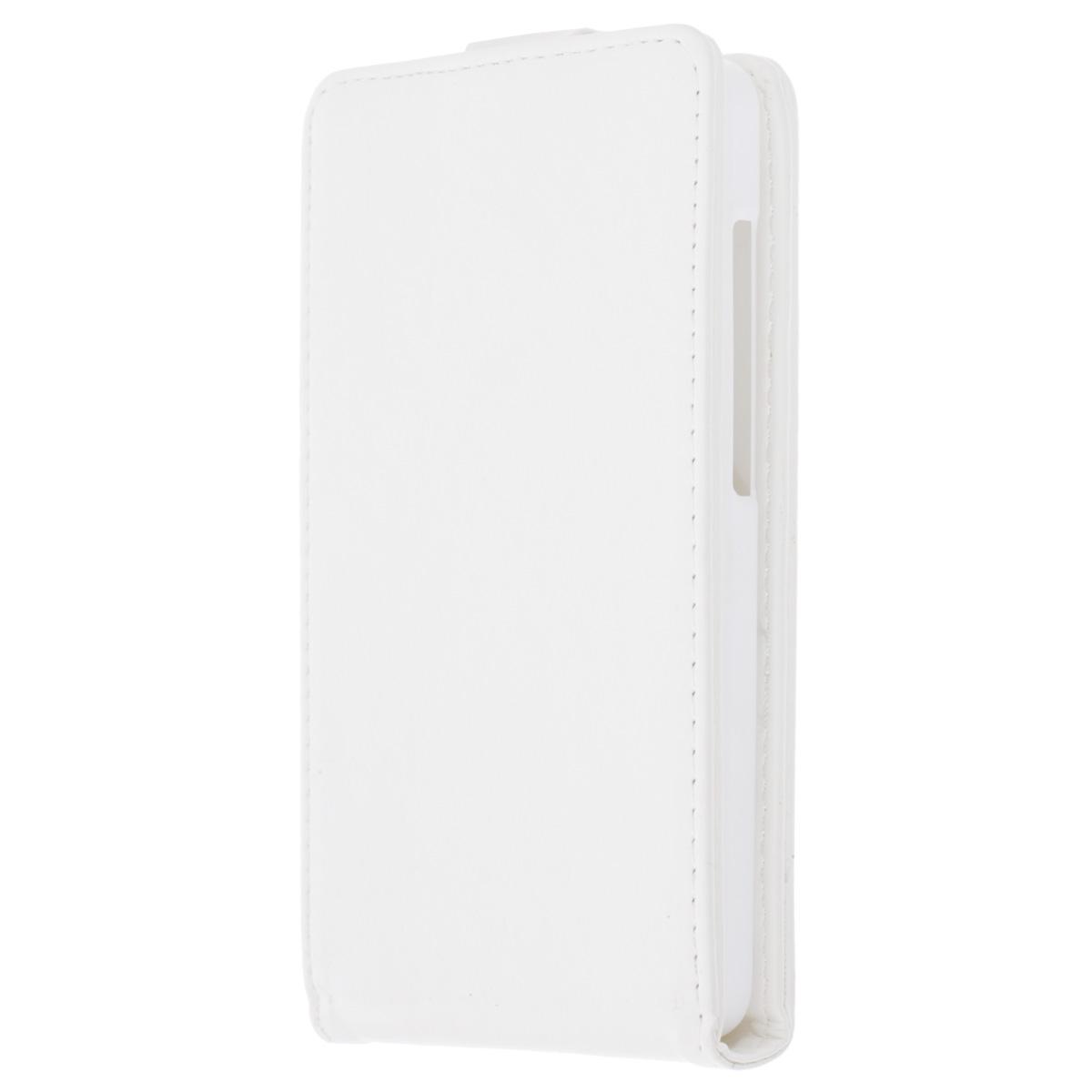 Skinbox Flip Case чехол для Asus Zenfone 5 Lite, WhiteT-F-AZP5LФлип-кейс Skinbox для Asus Zenfone 5 Lite не ограничивает функционал мобильного телефона. Адаптированная форма оставляет необходимые элементы устройства, такие как разъемы, камера, порт передачи данных, микрофон и динамики легко доступными. Качественная искусственная кожа, из которой изготовлен чехол, очень прочна и практична, а также идеально соответствует натуральной коже и создает приятные ощущения при касании. Смартфон фиксируется на жесткой основе из прочного пластика, которая не только защищает смартфон от ударов, но и максимально долго сохраняет свою форму. Передняя панель флип-кейса закрепляется магнитной застежкой, предотвращающей раскрытие чехла и повреждение дисплея вашего устройства.
