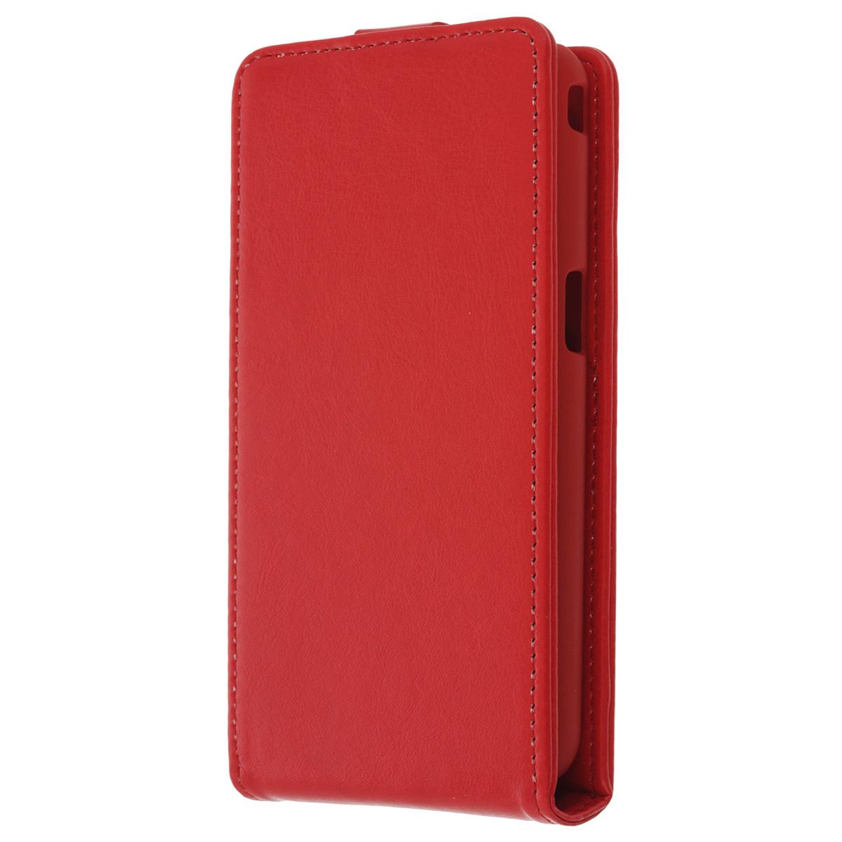 Skinbox Flip Case чехол для Philips W6610, RedT-F-P6610Флип-кейс Skinbox для Philips W6610 не ограничивает функционал мобильного телефона. Адаптированная форма оставляет необходимые элементы устройства, такие как разъемы, камера, порт передачи данных, микрофон и динамики легко доступными. Качественная искусственная кожа, из которой изготовлен чехол, очень прочна и практична, а также идеально соответствует натуральной коже и создает приятные ощущения при касании. Смартфон фиксируется на жесткой основе из прочного пластика, которая не только защищает смартфон от ударов, но и максимально долго сохраняет свою форму. Передняя панель флип-кейса закрепляется магнитной застежкой, предотвращающей раскрытие чехла и повреждение дисплея вашего устройства.