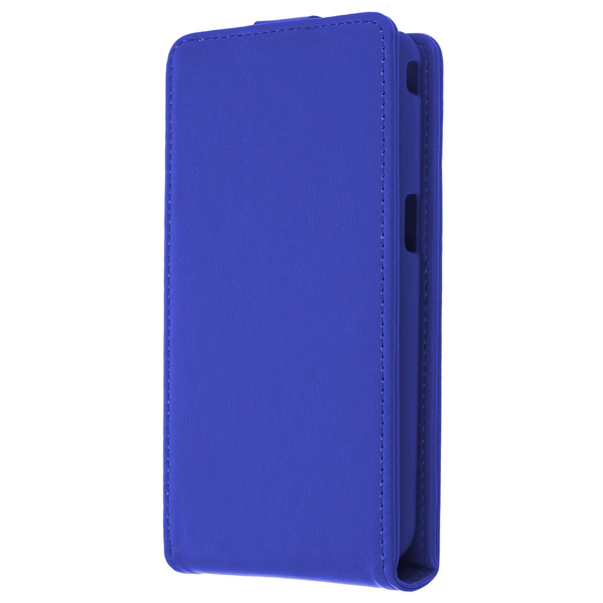 Skinbox Flip Case чехол для Philips W6610, BlueT-F-P6610Флип-кейс Skinbox для Philips W6610 не ограничивает функционал мобильного телефона. Адаптированная форма оставляет необходимые элементы устройства, такие как разъемы, камера, порт передачи данных, микрофон и динамики легко доступными. Качественная искусственная кожа, из которой изготовлен чехол, очень прочна и практична, а также идеально соответствует натуральной коже и создает приятные ощущения при касании. Смартфон фиксируется на жесткой основе из прочного пластика, которая не только защищает смартфон от ударов, но и максимально долго сохраняет свою форму. Передняя панель флип-кейса закрепляется магнитной застежкой, предотвращающей раскрытие чехла и повреждение дисплея вашего устройства.