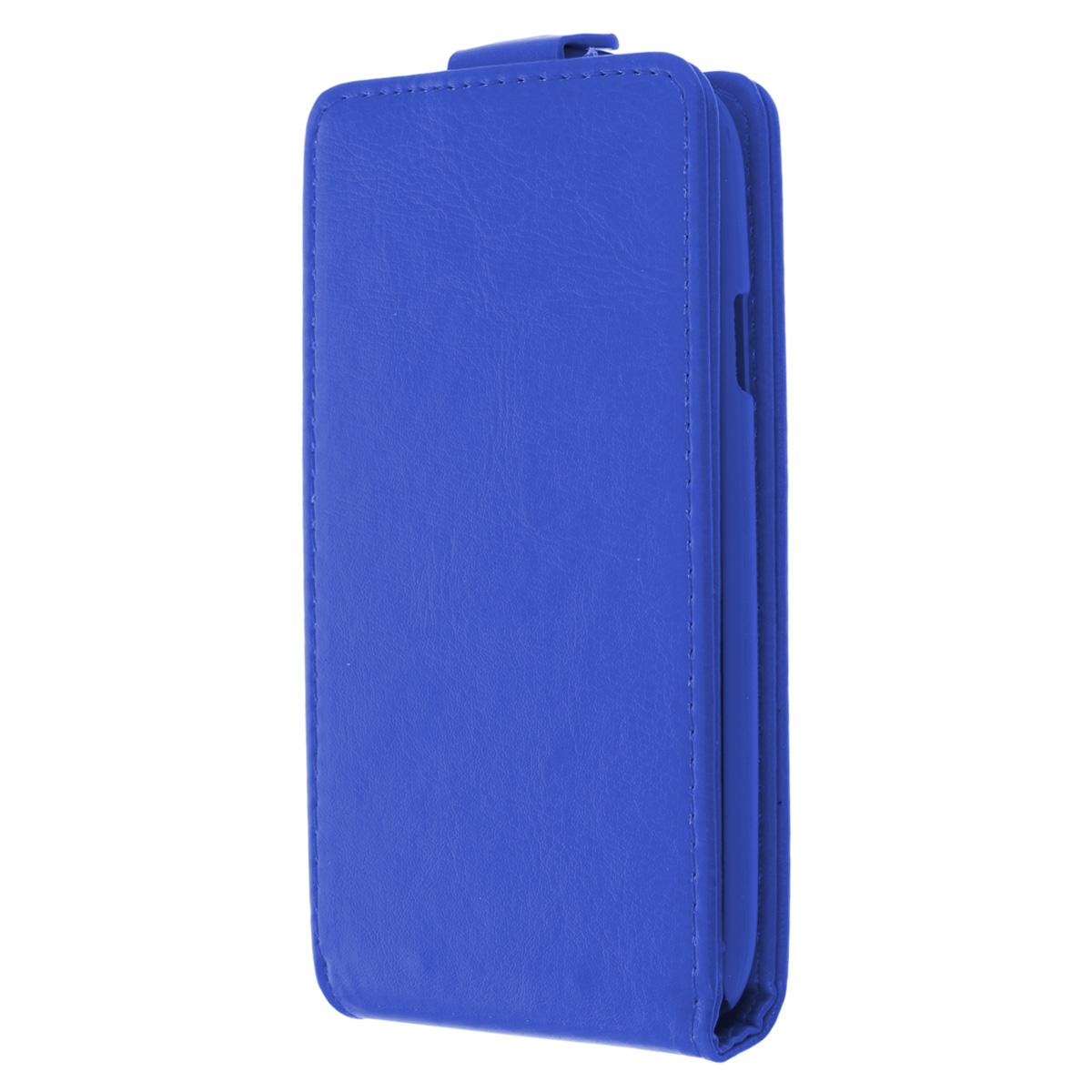 Skinbox Flip Case чехол для Samsung Galaxy S5, BlueT-F-SGS5Флип-кейс Skinbox для Samsung Galaxy S5 обеспечивает надежную защиту смартфона и надежно оберегает его от механических повреждений. Чехол выполнен из искусственной кожи высокого качества с жесткой основой из прочного пластика, а форма открывает свободный доступ ко всем разъемам и элементам вашего устройства.