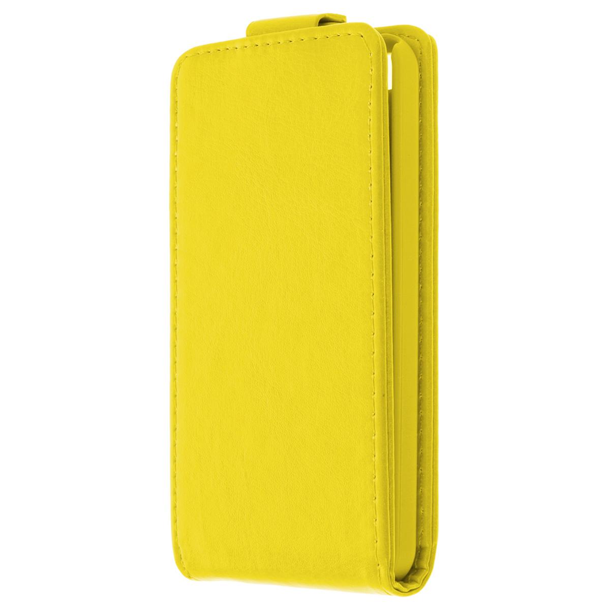 Skinbox Flip Case чехол для iPhone 5c, YellowT-F-iPhone5CФлип-кейс Skinbox для Apple iPhone 5c обеспечивает надежную защиту смартфона и надежно оберегает его от механических повреждений. Чехол выполнен из искусственной кожи высокого качества с приятной на ощупь текстурой, а форма открывает свободный доступ ко всем разъемам и элементам вашего устройства.