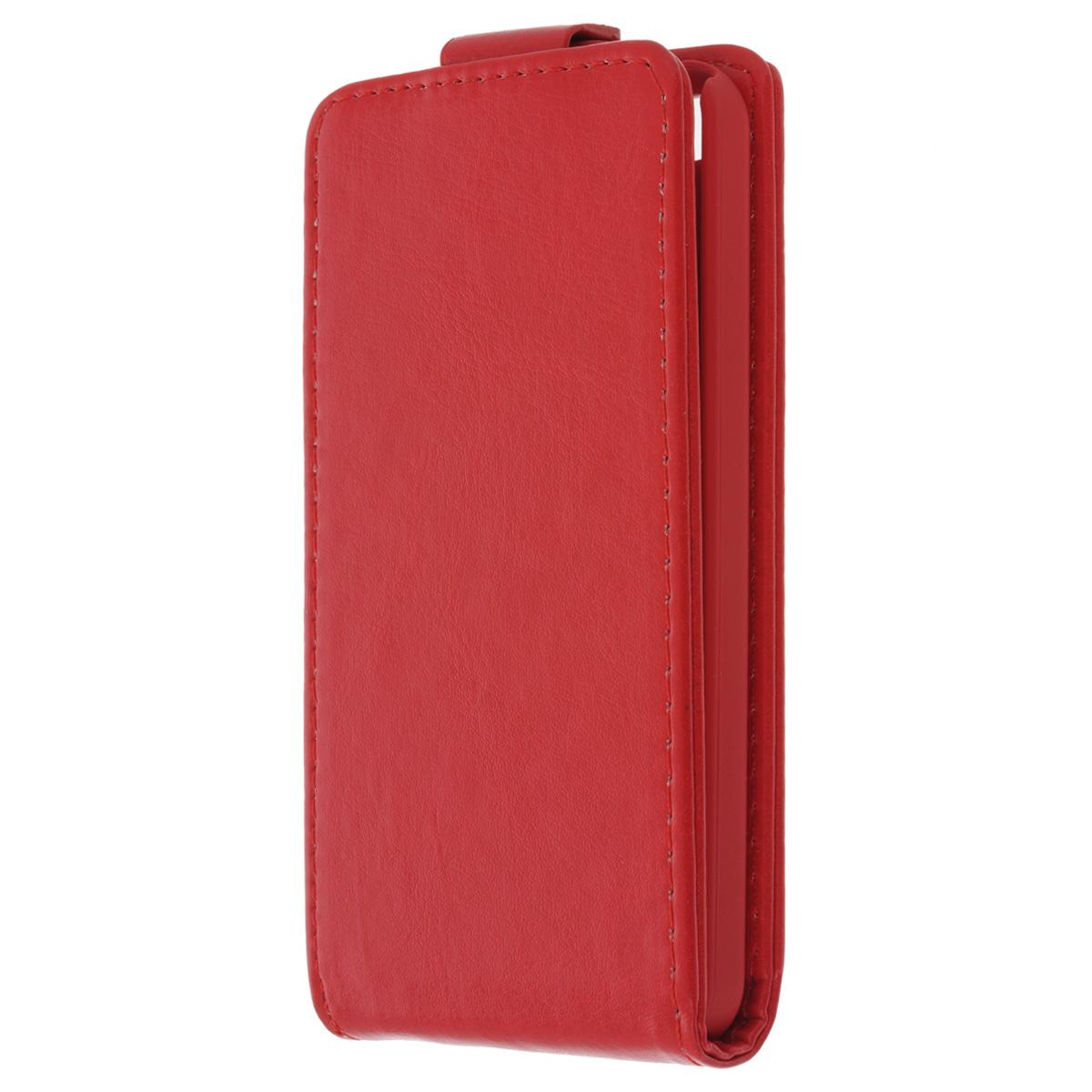 Skinbox Flip Case чехол для iPhone 5c, RedT-F-iPhone5CФлип-кейс Skinbox для Apple iPhone 5c обеспечивает надежную защиту смартфона и надежно оберегает его от механических повреждений. Чехол выполнен из искусственной кожи высокого качества с приятной на ощупь текстурой, а форма открывает свободный доступ ко всем разъемам и элементам вашего устройства.