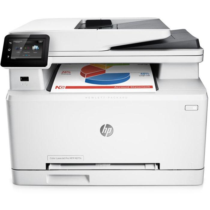 HP LaserJet Pro M277n лазерное МФУ (B3Q10A)B3Q10AМощные возможности в компактном корпусе. МФУ HP LaserJet Pro M277n с оригинальными лазерными картриджами HP, поддерживающими технологию JetIntelligence, представляет собой идеальное решение со всеми необходимыми функциями для эффективной работы. Повысьте эффективность работы: Печатайте высококачественные цветные документы, способные ускорить развитие вашего бизнеса, прямо в офисе. Сенсорный экран диагональю 7,6 см позволяет быстро находить необходимые приложения и выполнять сканирование непосредственно на электронную почту, в сетевые папки и в облако. Отправляйте на печать документы Microsoft Word и PowerPoint прямо с USB-накопителя. Оцените удобство и безопасность мобильной печати: Для отправки заданий печати с большинства смартфонов и планшетов не потребуются специальные приложения. Откройте для своих сотрудников преимущества прямой беспроводной печати с мобильных устройств без подключения к корпоративной сети. ...