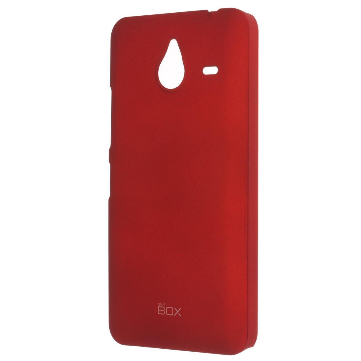 Skinbox Shield 4People чехол для Microsoft Lumia 640XL, RedT-S-ML640XL-002Накладка Skinbox Shield 4People для Microsoft Lumia 640XL - отличный аксессуар для защиты корпуса вашего смартфона от внешних повреждений, сохраняющий размеры устройства и обеспечивающий удобство работы с ним. Устойчивый к истиранию пластик надежно амортизирует мелкие механические воздействия и предотвращает появление царапин или потертостей на корпусе вашего гаджета. В комплект также входит защитная пленка для экрана смартфона.