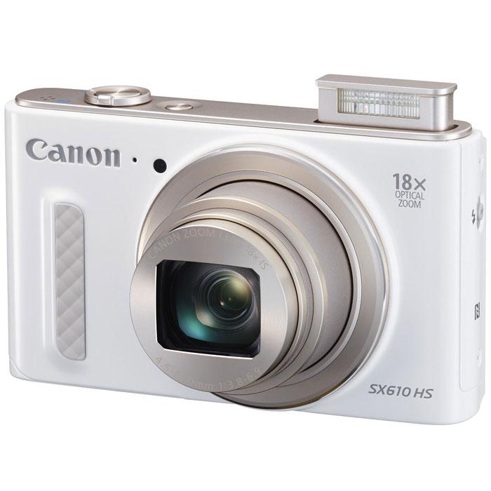 Canon PowerShot SX610 HS, White цифровая фотокамера