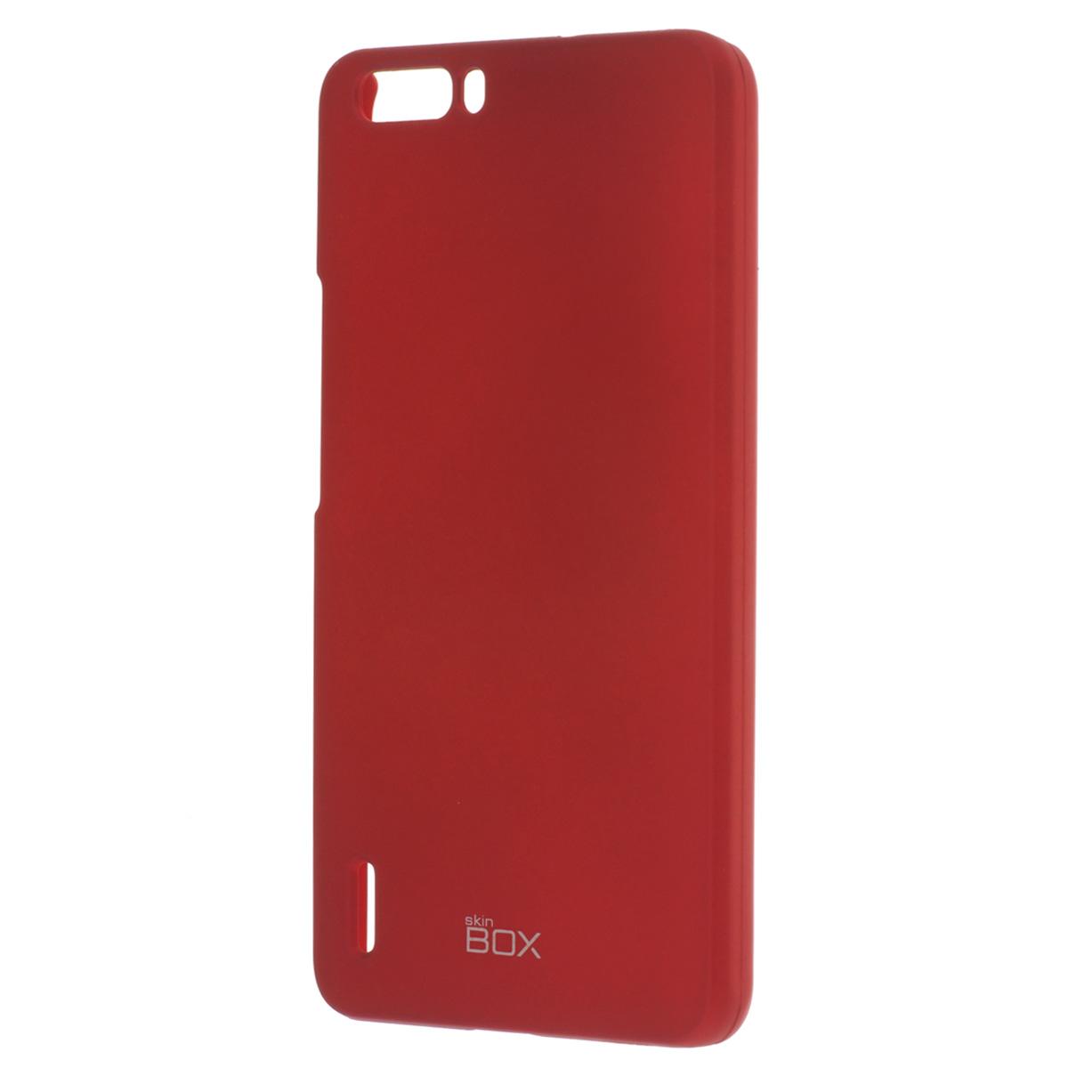 Skinbox Shield 4People чехол для Huawei Honor 6 Plus, RedT-S-HH6P-002Накладка Skinbox Shield 4People для Huawei Honor 6 Plus обеспечивает амортизацию удара при непредвиденном падении устройства, а также защитит его от пыли, отпечатков пальцев и царапин. Обеспечивает свободный доступ ко всем разъемам и клавишам устройства.