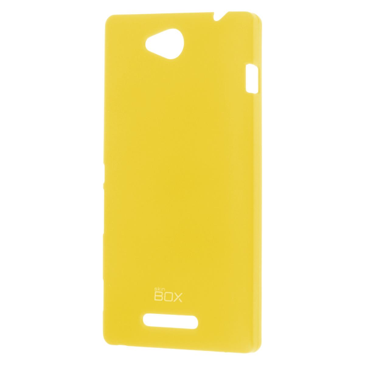 Skinbox Shield 4People чехол для Sony Xperia C, YellowT-S-SXC-002Чехол Skinbox Shield 4People для Sony Xperia C предназначен для защиты корпуса смартфона от механических повреждений и царапин в процессе эксплуатации. Имеется свободный доступ ко всем разъемам и кнопкам устройства. В комплект также входит защитная пленка на экран телефона.