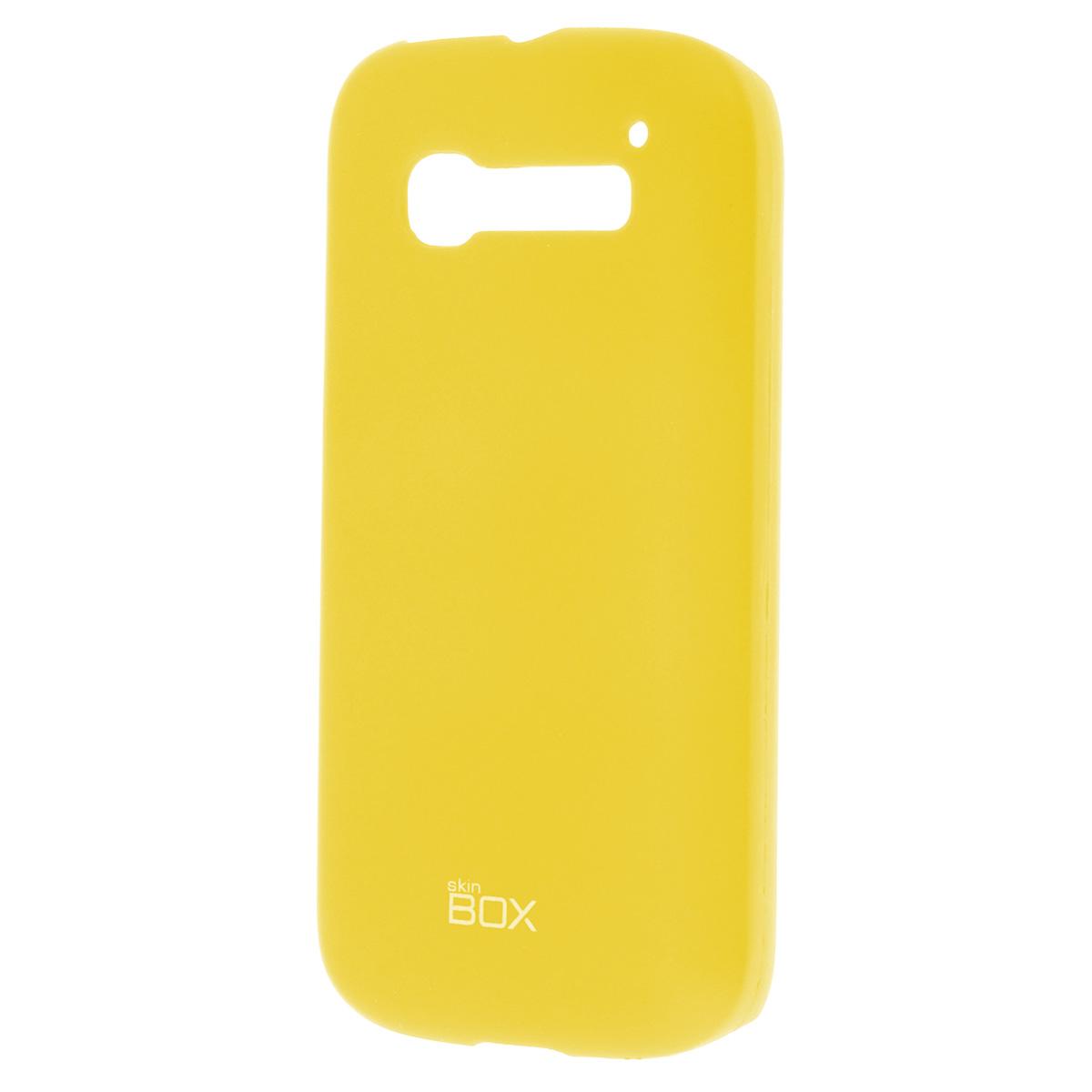 Skinbox Shield 4People чехол для Alcatel 5036D С5, YellowT-S-A5036D-002Чехол Skinbox Shield 4People для Alcatel One Touch Pop C5 предназначен для защиты корпуса смартфона от механических повреждений и царапин в процессе эксплуатации. Имеется свободный доступ ко всем разъемам и кнопкам устройства. В комплект также входит защитная пленка на экран телефона.